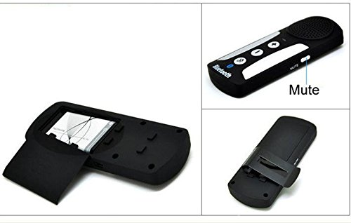 Ariic Black Handsfree Headset Bluetooth Multipoint Car Kit Speaker Speakerphone hk009 wireless bluetooth 4 0 handsfree car speaker black