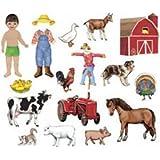 Felt BBS Bulletin Board Sets / Flannel Board Set: My Farm Friends; no. LFV25703