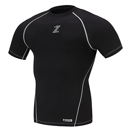 D-ZEFRON F/W Season Compression Under Napping Men's Shirts Base Layer Gear Armour Wear Short Sleeve Shirts DZTN200BR