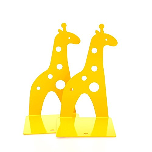 Marrywindix Yellow Cute Giraff Nonskid Bookends Bookend Art Gift