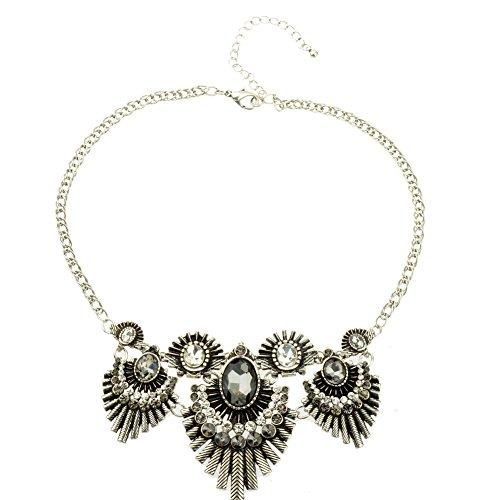 Btime Remarkable Alloy Crystal Rhinestone Hedgehog Similar Shaped Necklace