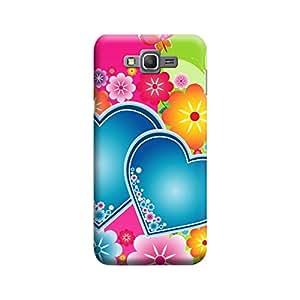 Desicase Samsung Grand Prime Lovable Heart 3D Matte Finishing Printed Designer Hard Back Case Cover (Multicolor)