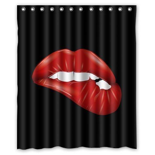 custom-waterproof-fabric-bathroom-shower-curtain-red-lips-60w-x-72h