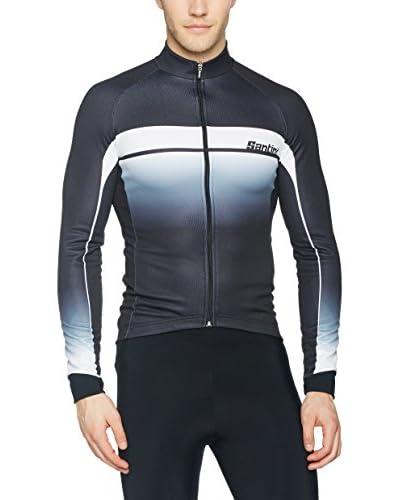 Santini Maglia Ciclismo [Nero/Bianco]