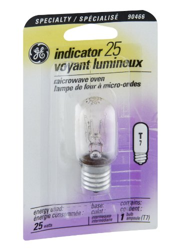Ge Microwave Oven Indicator Bulb 25 W Lumens 195 T7 Intermediate Clear Carded