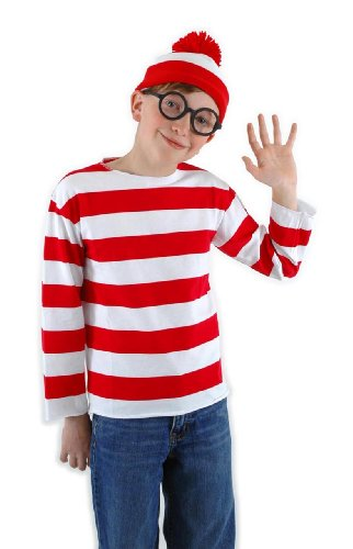 Elope Where's Waldo Costume Kit Youth Large