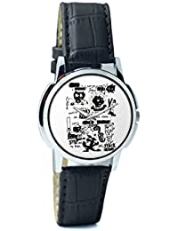 BigOwl Is It A Car Or A Cat Painting Analog Men's Wrist Watch 2114884526-RS1-W-BK1