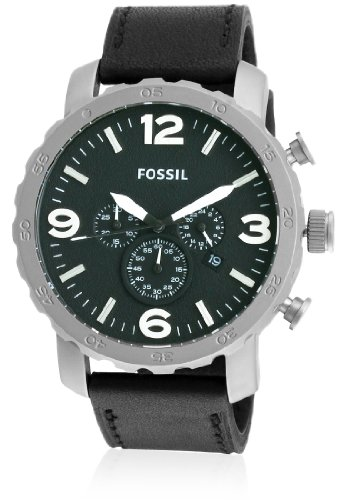 Fossil Fossil Nate Chronograph Black Dial Men's Watch - TI1005