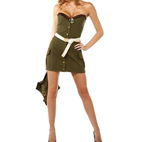 Nanxson(TM) Women's Sexy Drillmaster Police Uniform Spy Adult Costume EXW0014 (green) (Dress Up Police Uniform)
