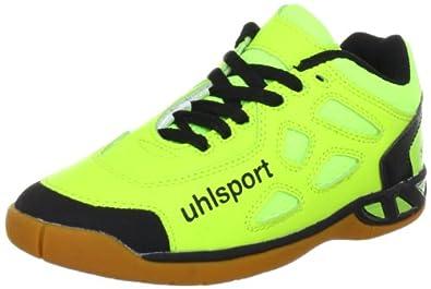 uhlsport Unisex - Child TIGRE Junior Sports Shoes - Indoors Yellow Gelb (fluogelb/anthrazit/schwarz 01) Size: 28