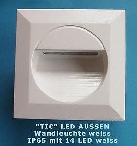 tic led wandeinbauleuchte weiss eckig f r aussen ip65 230v beleuchtung. Black Bedroom Furniture Sets. Home Design Ideas