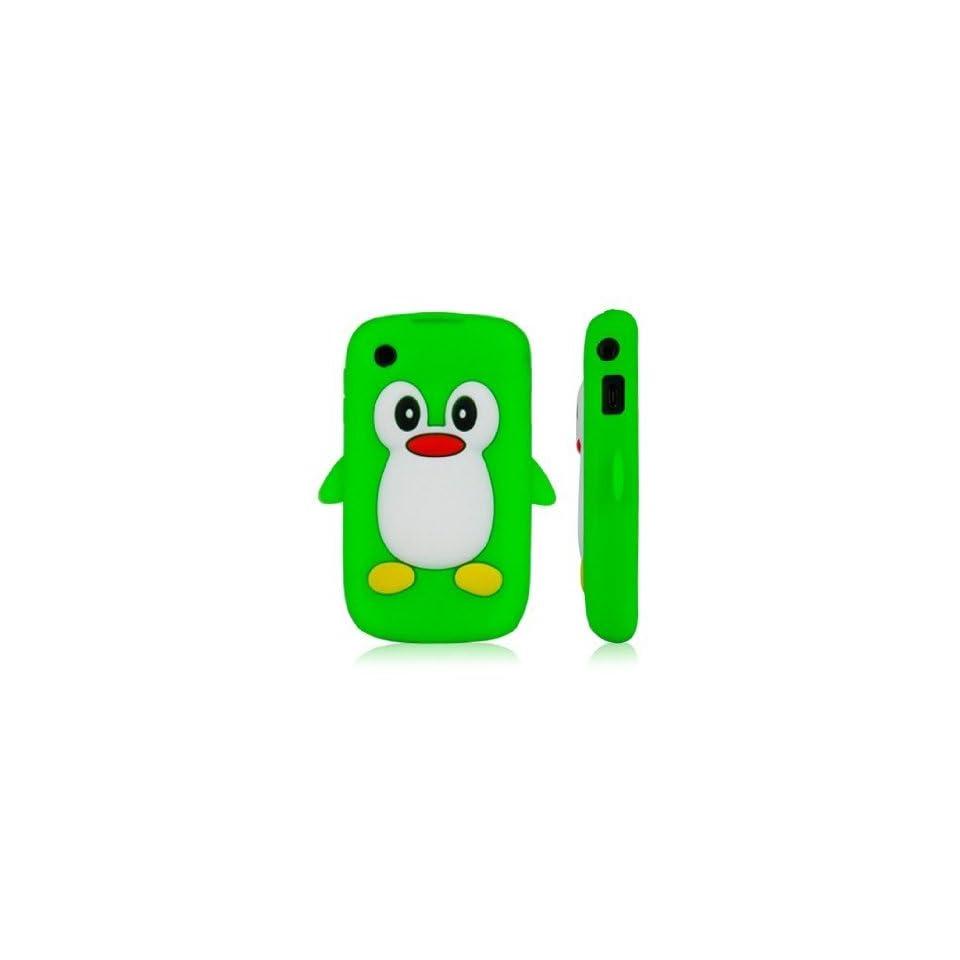 Tinkerbell Trinkets® Vert Mignon Pingouin Manchot Etui Coque Housse Pour Blackberry Curve 8520 8530 9300 3G
