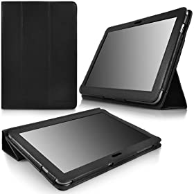 CaseCrown Bold Trifold Case (Black) for Samsung Galaxy Tab 10.1 (compatible w/ Wi-Fi)