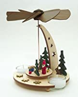 Santa German Christmas Pyramid w/ Tea Lights from PINNACLE PEAK