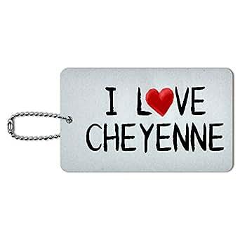 Amazon.com: I Love Cheyenne Written on Paper ID Tag Luggage Card