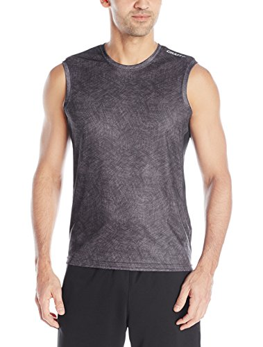 Craft Run Apparel Men's Mind Sleeveless Tee, X-Small, Deep/View Deep/View X-Small