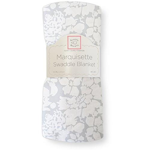 SwaddleDesigns Marquisette Swaddling Blanket, Lush, Sterling