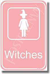 Witches Bathroom Sign - NEW Humor Magic Poster