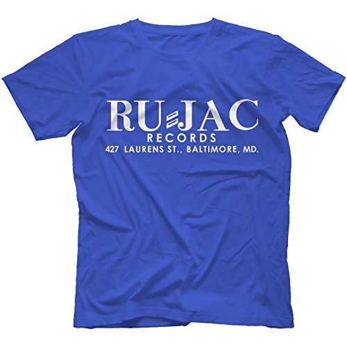 Ru-Jac Records T-Shirt 100% Cotton Dynamic Corvettes Gene & Eddie Soul[Royal Blue,M]
