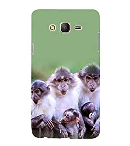 printtech Nature Monkey Family Back Case Cover for Samsung Galaxy On5