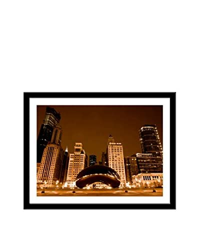 Photos.com by Getty Images Crowd Pleaser: Cloud Gate At Night Chicago, Il Artwork On Framed Paper