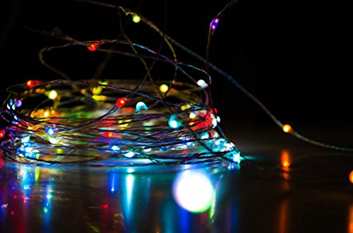 HitLights 10 Meter LED String Light Kit - Includes Power Supply - Twinkling Multicolor RGB