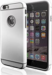 iPhone 6s Laza [Slim Shelly] Unique Dual Layer Patented Showoff Design Slim Fit [Hard Shell Soft Interior] Case Cover [Lay on Table Design] for Apple iPhone 6 / iPhone 6s (4.7) - Glacier White
