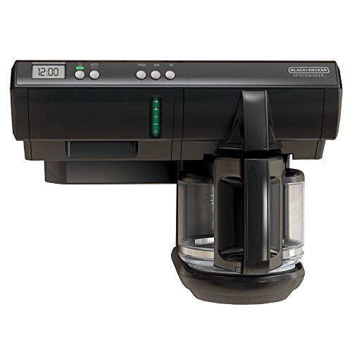 BLACK+DECKER SCM1000BD Space Maker 12-Cup Programmable Coffee Maker, Black (Under Cabinet Toaster Oven Mount compare prices)