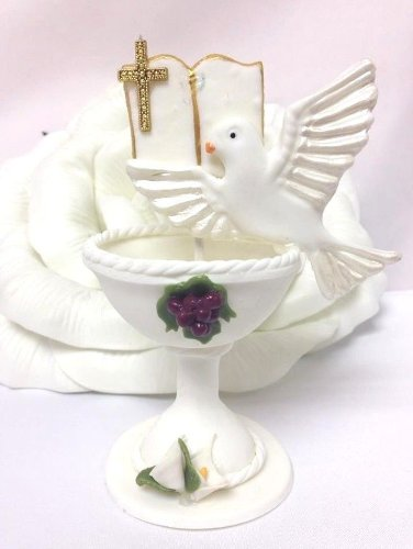 First Holy Communion Chalice Favor Cake Topper Centerpiece Decoration front-1053261