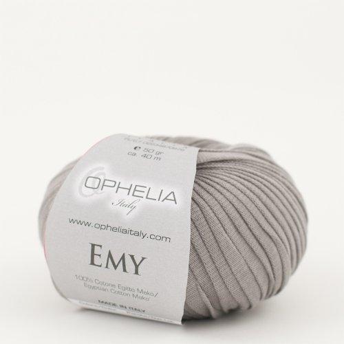 Ophelia Italy Emy - Fettuccia cotone 50g fettuccia 10mm 100% puro cotone egiziano Makò (014 Grigio)