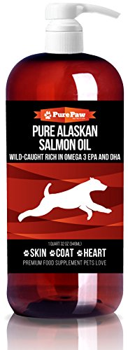 Premium Organic Wild-Caught Pure Alaskan Salmon with Vitamins D3 Potassium B Complex & Antioxidants Best Holistic Home Remedy Fish Oil for Healthy Heart Skin & Coat Dogs and Cats Love Made In USA
