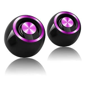 Heden SPK170UCV0 Haut-parleur 2.0 auto-alimenté USB Noir / Violet