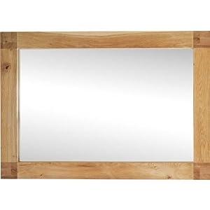 riga spiegel mit eichenholzrahmen rechteckig 100 cm x 70 cm k che haushalt. Black Bedroom Furniture Sets. Home Design Ideas