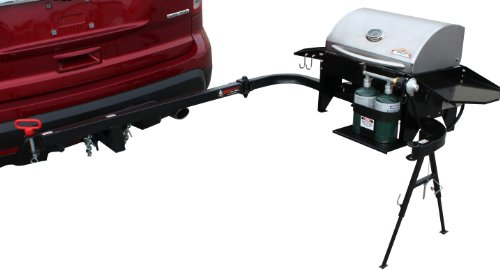 Party King Grills PKG-VJV-6412 SWING'N Smoke Varsity Grill Package, Includes Varsity Grill, Varsity Cradle and VERSArm LT Swing Arm (Tailgate Grill Hitch compare prices)