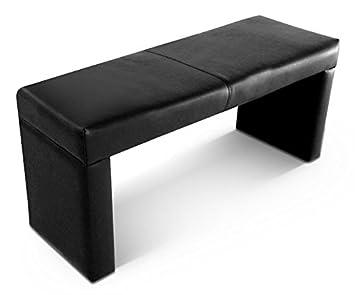 leder sitzbank schwarz 110 cm us166. Black Bedroom Furniture Sets. Home Design Ideas
