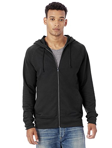 Alternative Men's Vintage Sport French Terry Franchise Hoodie, Black, M (Alternative French Terry compare prices)