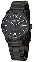 SO&CO York Men's 5011B.3 SoHo Analog Display Japanese Quartz Black Watch from SO&CO New York