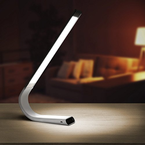 Luxe LED Cordless Desk Lamp (Micro USB Charging) 40 Hours of Continuous Light Touch Light Control 18 Brightness Levels 360 Degree Adjustable Design Indoor/Outdoor Use