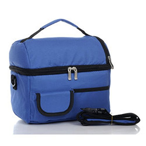 Fashion Lunch Box Borsa multifunzione, tempo borsa frigo, 2strati termica per scomparto, conservare Latte medicina e cibi Outdoor Lavoro o da viaggio, Royal Blue