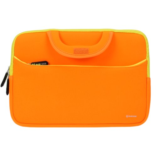Evecase HP Stream 11 UltraPortable Handle Carrying Portfolio Neoprene Sleeve Case Bag for HP Stream 11 11-d010nr Notebook 11.6 inch Laptop - Orange