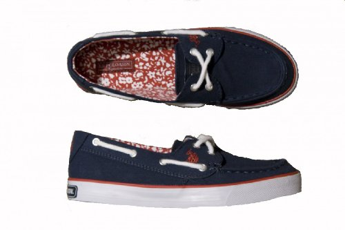 Womens Navy U.S. Polo Association Boat Shoes, Size 7