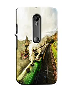 Blue Throat Steam Train Hard Plastic Printed Back Cover/Case For Moto G3]