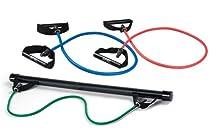 SPRI Xercise Bar Kit with 3 Xertubes