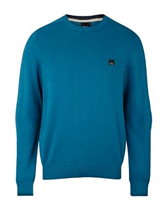 Bench Ofsted B Men's Jumper Dark Turquoise Blue XX-Large