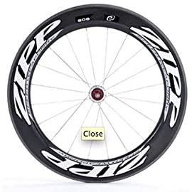 Zipp 2011 808 Carbon Clincher Road Bicycle Wheel - Rear