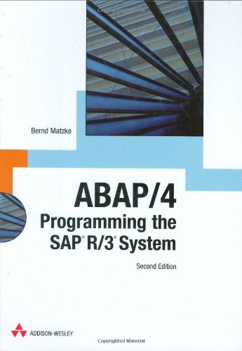 ABAP/4: Programming the SAP R/3 System
