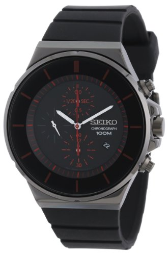 Seiko Men's Black Dial Chronograph SNDD61