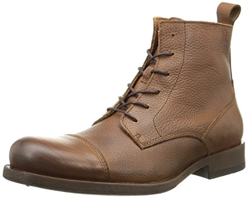 JACK & JONES Jjernest Leather Boot Cognac, Stivaletti classici non imbottiti, corti uomo, Marrone (Braun (Brown Stone)), 45
