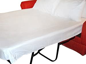 "Amazon Twin Sleeper Sofa Bed Sheet Set White Cotton 300 TC 36""x72""x6"""
