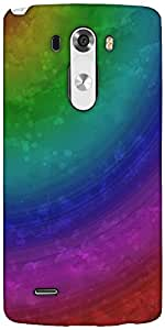 Snoogg Wave Rainbow 2403 Designer Protective Back Case Cover For LG G3